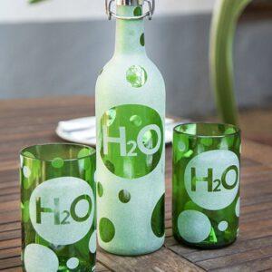 Wasserflasche H2O von Iwas