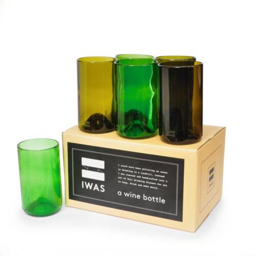 Gläser aus Weinflaschen