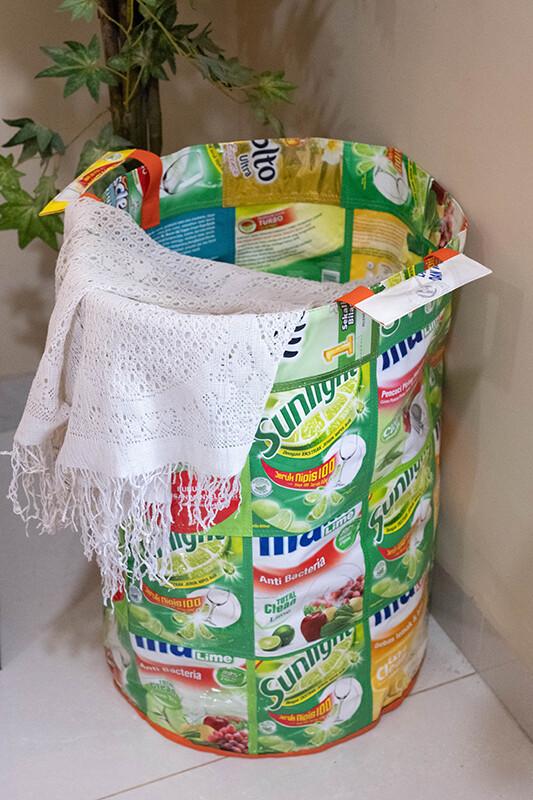 Upcycling-Wäschekorb