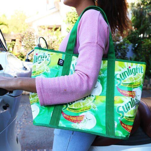 Upcycling Markttasche