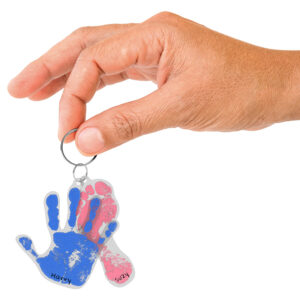 Handabdruck-Schlüsselanhänger