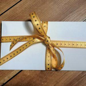 Geschenkband Maßband