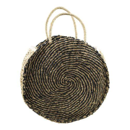 Seegras-Tasche rund